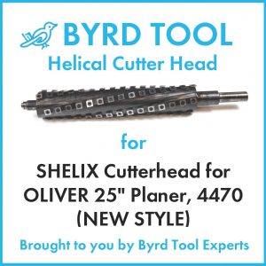 """SHELIX Cutterhead for OLIVER 25"""" Planer (NEW STYLE)"""