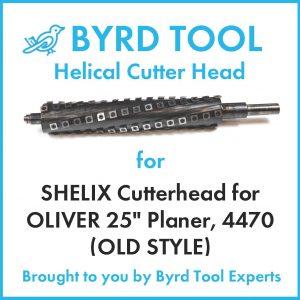"""SHELIX Cutterhead for 25"""" Planer"""