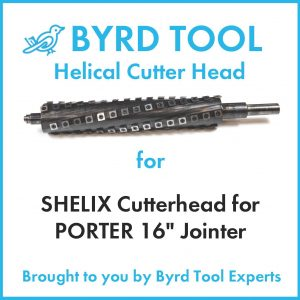 SHELIX Cutterhead for PORTER 16″ Jointer