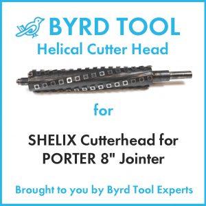 SHELIX Cutterhead for PORTER 8″ Jointer