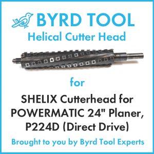 "SHELIX Cutterhead for POWERMATIC 24"" Planer"