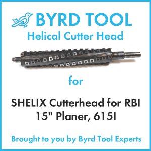 "SHELIX Cutterhead for RBI 15"" Planer"