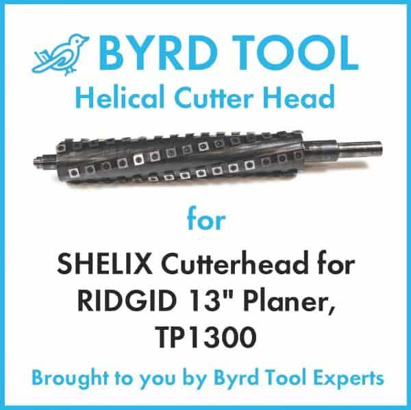 "SHELIX Cutterhead for RIDGID 13"" Planer, TP13002"