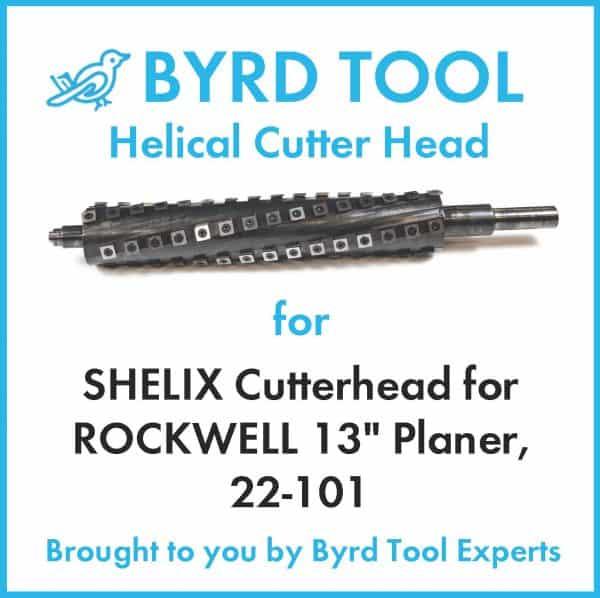 "SHELIX Cutterhead for ROCKWELL 13"" Planer"