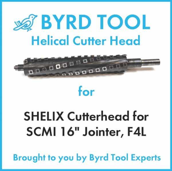 SHELIX Cutterhead for SCMI 16″ Jointer, F4L