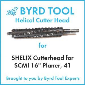 """SHELIX Cutterhead for SCMI 16"""" Planer"""