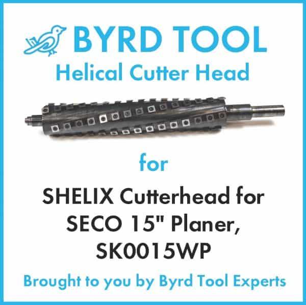 "SHELIX Cutterhead for SECO 15"" Planer"