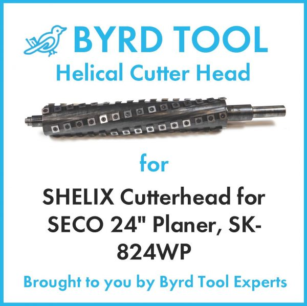 "SHELIX Cutterhead for SECO 24"" Planer"