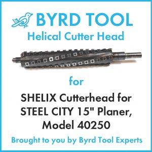 "SHELIX Cutterhead for STEEL CITY 15"" Planer"