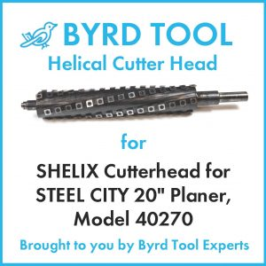 "SHELIX Cutterhead for STEEL CITY 20"" Planer"
