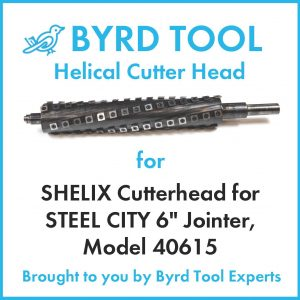 SHELIX Cutter Head for STEEL CITY 6″ Jointer, Model 40615