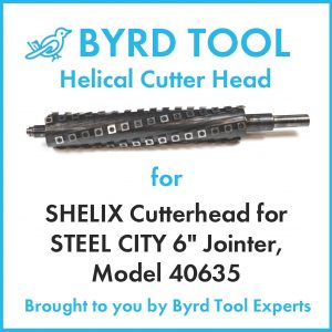 SHELIX Cutterhead for STEEL CITY 6″ Jointer, Model 40635