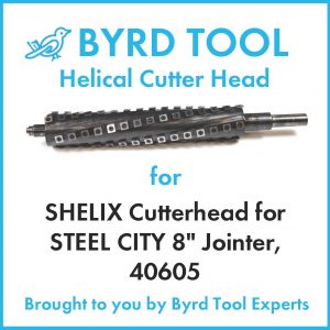 SHELIX Cutterhead for STEEL CITY 8″ Jointer, 40605