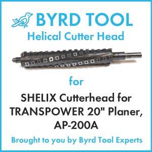 "SHELIX Cutterhead for TRANSPOWER 20"" Planer"
