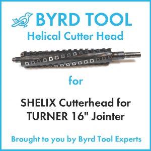 SHELIX Cutterhead for TURNER 16″ Jointer