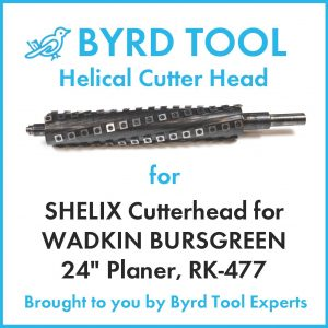 "SHELIX Cutterhead for WADKIN BURSGREEN 24"" Planer"