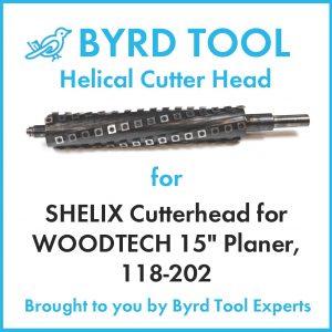 """SHELIX Cutterhead for WOODTECH 15"""" Planer"""