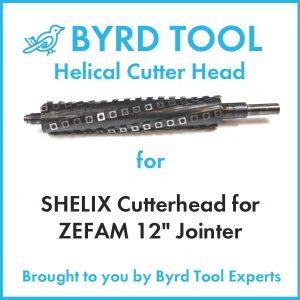"""SHELIX Cutterhead for ZEFAM 12"""" Jointer"""