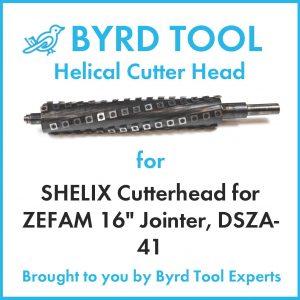 """SHELIX Cutterhead for ZEFAM 16"""" Jointer, DSZA-41"""