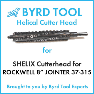 SHELIX Cutterhead for Rockwell 8″ Jointer, 37-315
