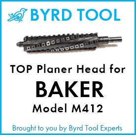 SHELIX Cutterhead for Baker M412 Moulder Planer – TOP Head