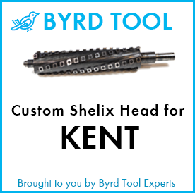 Custom Shelix Cutterhead for Kent Planer