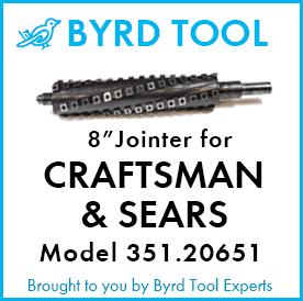 "SHELIX Cutterhead for CRAFTSMAN (Sears) 8"" Jointer Model 351.20651"
