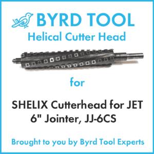 "Shelix Cutterhead for Jet 6"" Jointer, JJ-JCS"